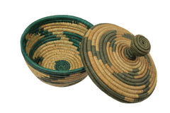 African basket with lid Stock Images