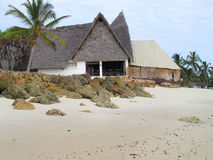 African beach house Stock Image