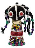 African bead figurine Royalty Free Stock Image