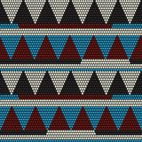African bead motif. Abstract seamless pattern. Royalty Free Stock Photos