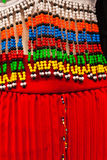 African Beaded Dress Design Colors Royalty Free Stock Photo