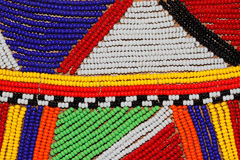African beads. Colorful African beads used as decoration by the Masai tribe in Kenya Royalty Free Stock Image