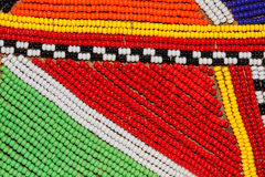 African beads. Colorful African beads used as decoration by the Masai tribe in Kenya Stock Photos