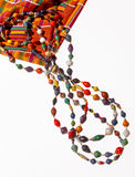 African Beads. Beads handmade by women in Africa from recycled paper Royalty Free Stock Photos