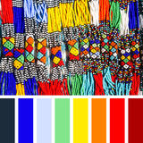 African beads palette Royalty Free Stock Photos