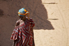 African Beautiful Dogon woman Royalty Free Stock Images