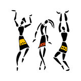 African Beautiful Women. African dancers. Dancing woman in ethnic style. Vector Illustration vector illustration