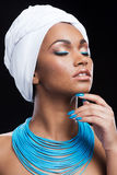 African beauty in style. Royalty Free Stock Image