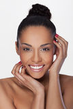 African BeautyBeautiful woman with cream on her faceAfrican Beauty Royalty Free Stock Photos