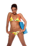 African Bikini Model royalty free stock image