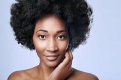 African black beauty in studio Stock Photos
