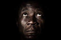 African black man studio portrait. Royalty Free Stock Photo
