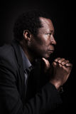 African black man studio portrait. Royalty Free Stock Photography