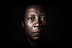 African black man studio portrait. Royalty Free Stock Image