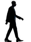 African black man walking serious silhouette Royalty Free Stock Photo