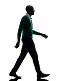 African black man walking silhouette Stock Photos