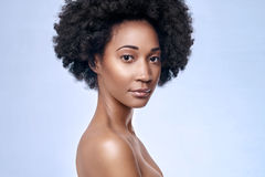 African black model flawless skin stock photography
