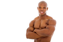 African bodybuilder arms crossed Stock Images