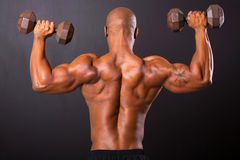 African bodybuilder training Royalty Free Stock Photography
