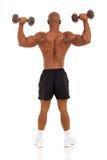 African bodybuilder training Stock Photo