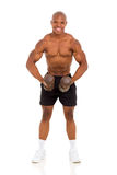 African bodybuilder training Royalty Free Stock Image