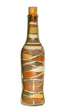 African bottle. Of sand patterns Royalty Free Stock Photos