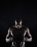 African boxer preparing for fight Stock Photography
