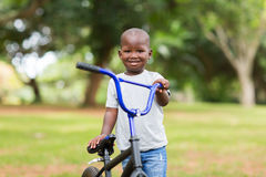 African boy bicycle Royalty Free Stock Image