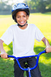 African boy bicycle Royalty Free Stock Photography