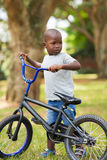 African boy bike Royalty Free Stock Photography