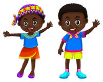 African boy and girl smiling Stock Photography