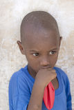 African boy holding a balloon (four years old) Royalty Free Stock Image