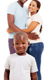 African boy parents Stock Photo