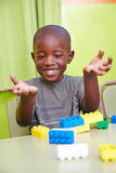 African boy playing in kindergarten Royalty Free Stock Photography