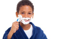 African boy shaving Stock Photography