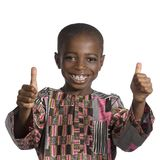 African boy showing thumb up Royalty Free Stock Photo