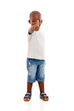 African boy thumb up Stock Photography
