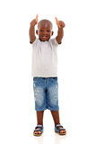 African boy thumbs up Royalty Free Stock Photos