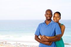African boyfriend girlfriend. Happy african american boyfriend and girlfriend portrait stock photo