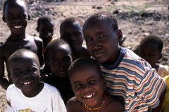 African boys. Young african boys smiling at the camera royalty free stock images