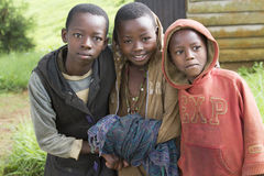 African boys  in Rwanda Stock Photo