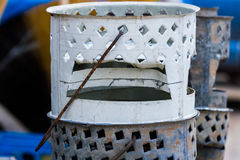 African brazier barbecue stock image