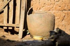 An African Broken Clay Pot Stock Photo