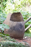 An African Broken Clay Pot. African broken clay pots found in a village in Nigeria Royalty Free Stock Images