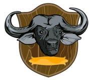 African Buffalo. Vector art of an african buffalo vector illustration