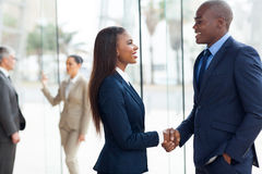 African business handshaking Stock Photo