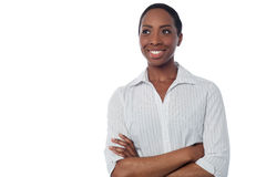 African business lady looking away Stock Photos