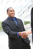 African Business Man Handshake stock photos