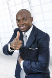 African business man thumb up Stock Photography