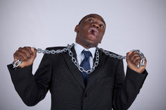 African business power Royalty Free Stock Photos